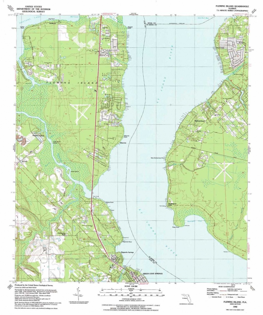 Fleming Island Topographic Map, Fl - Usgs Topo Quad 30081A6 - Fleming Island Florida Map