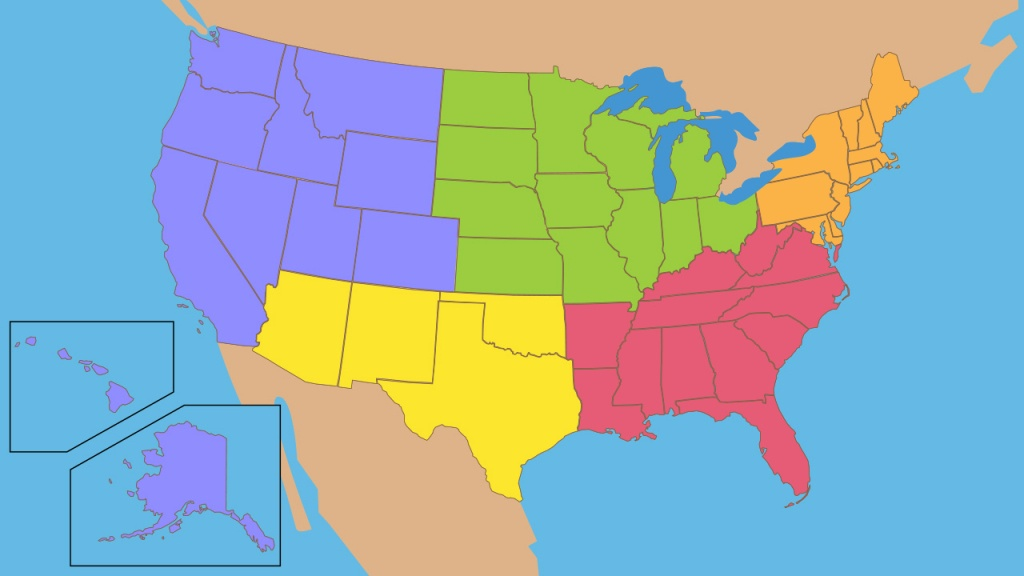 Flocabulary - Educational Hip-Hop - 5 Regions Of The United States Printable Map