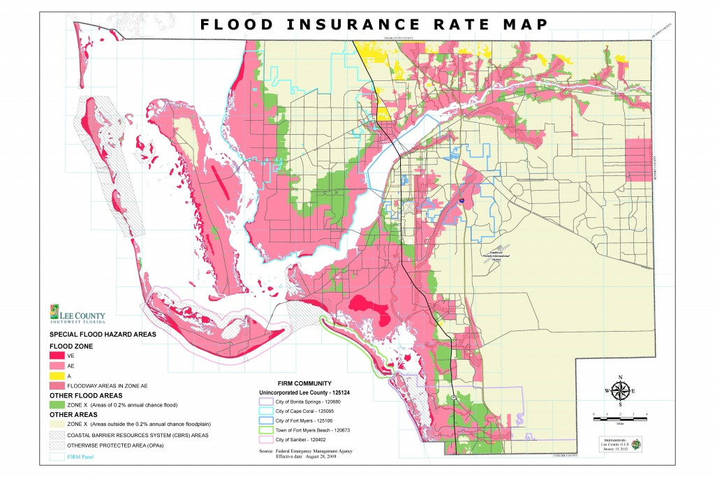 Flood Insurance Rate Maps - Fema Flood Maps Lee County Florida