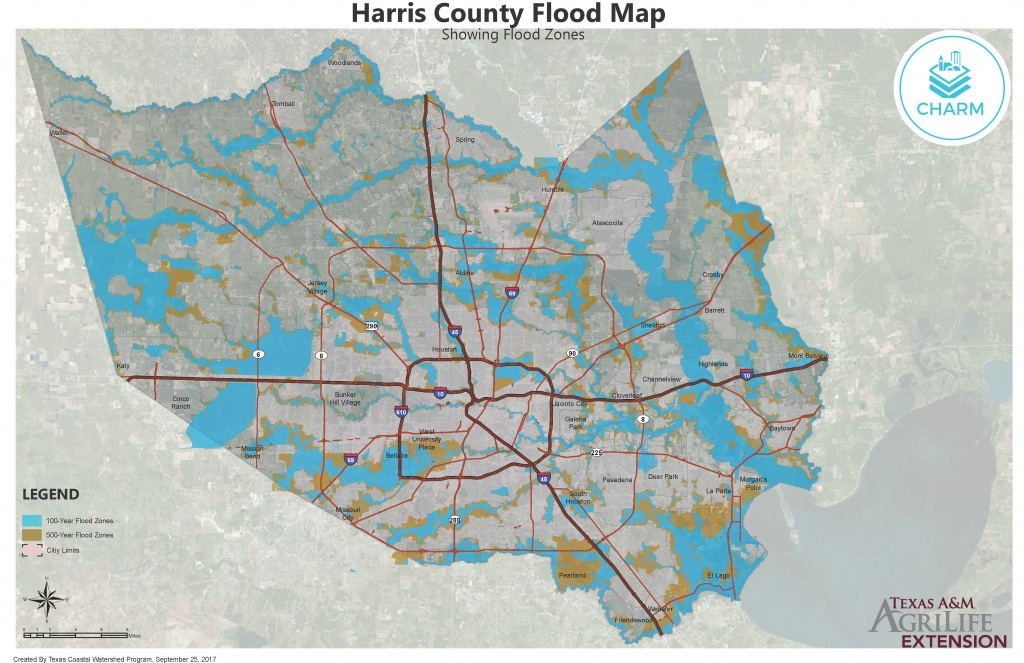 Flood Zone Maps For Coastal Counties | Texas Community Watershed - Houston Texas Floodplain Map