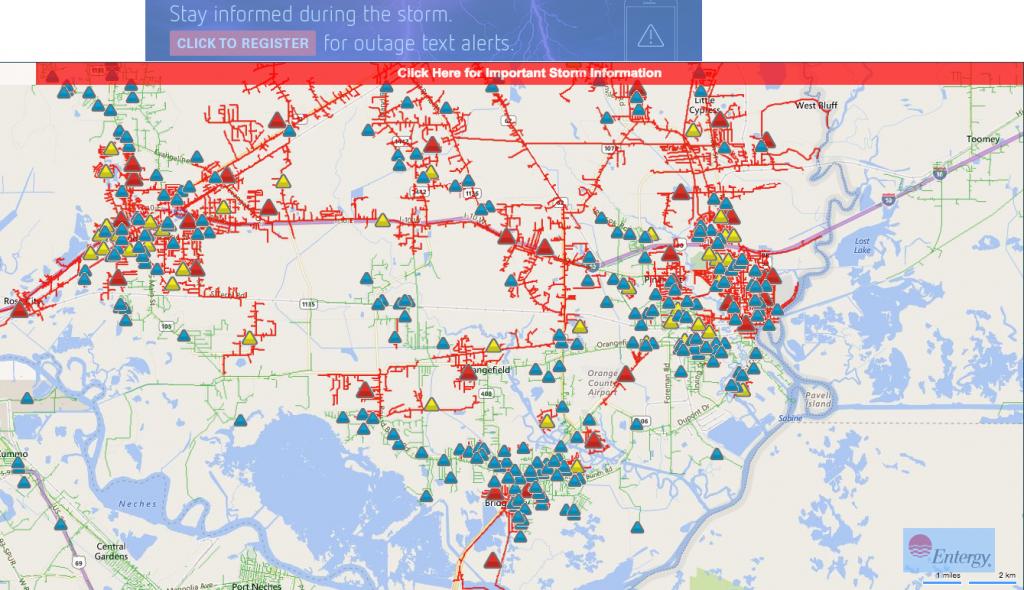 Flooding Slows Entergy Crews Turning On Power - Therecordlive - Entergy Texas Outage Map