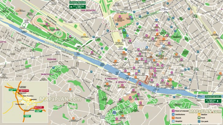 Tourist Map Of Florence Italy Printable