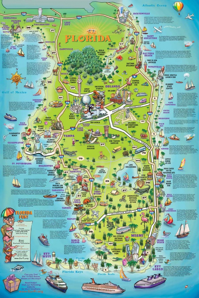 Florida Attraction Map - Google Search | Bucket List!!! | Map - Florida Attractions Map
