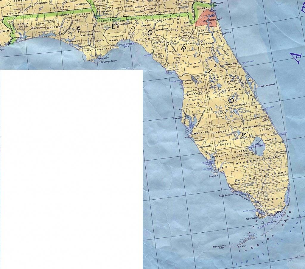 Florida Base Map - Florida Topographic Map Free
