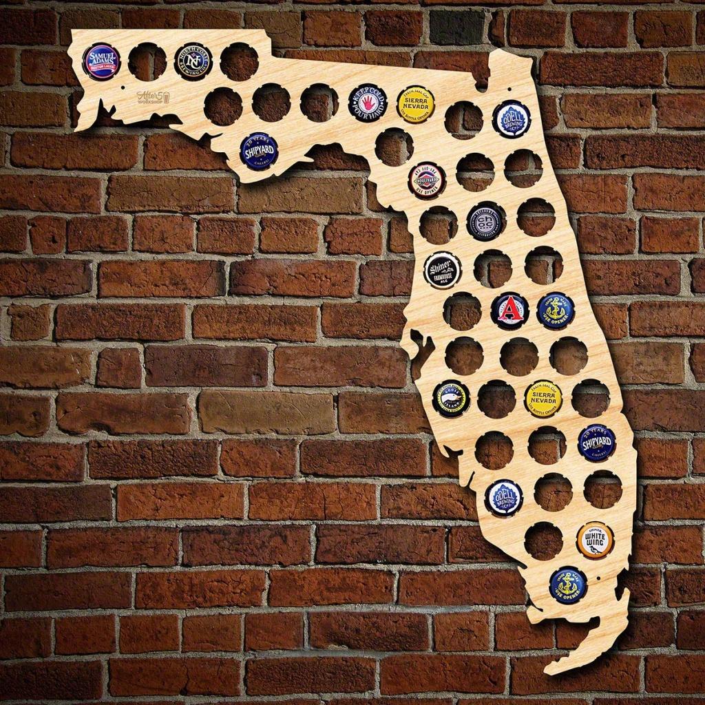 Florida Beer Cap Map - Florida Beer Cap Map