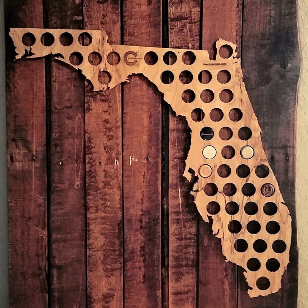 Florida Beer Cap Maps - Swiftmaps - Florida Beer Cap Map