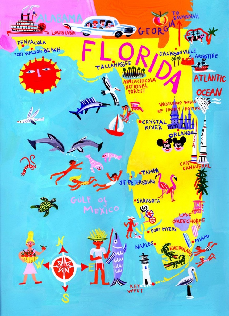 Florida - Christopher Corr | Maps In 2019 | Florida, Florida Travel, Map - Florida Tourist Map