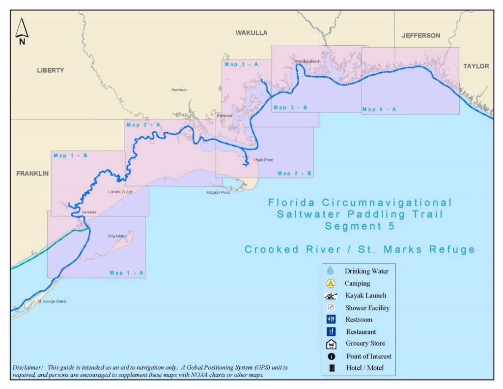 Florida Circumnavigational Saltwater Paddling Trail - Segment 5 - Alligator Point Florida Map