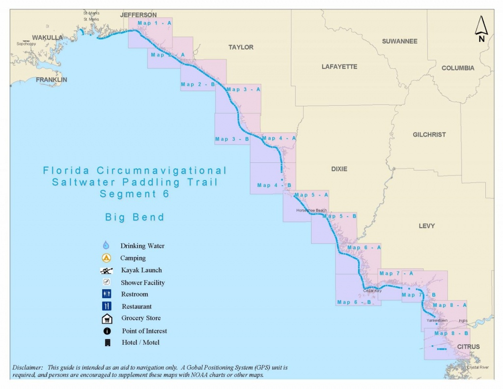 Florida Circumnavigational Saltwater Paddling Trail - Segment 6 - Florida Paddling Trail Maps