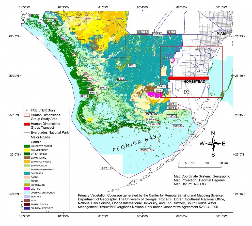 Florida Coastal Everglades Lter - Gis Data And Maps - Florida Gis Map