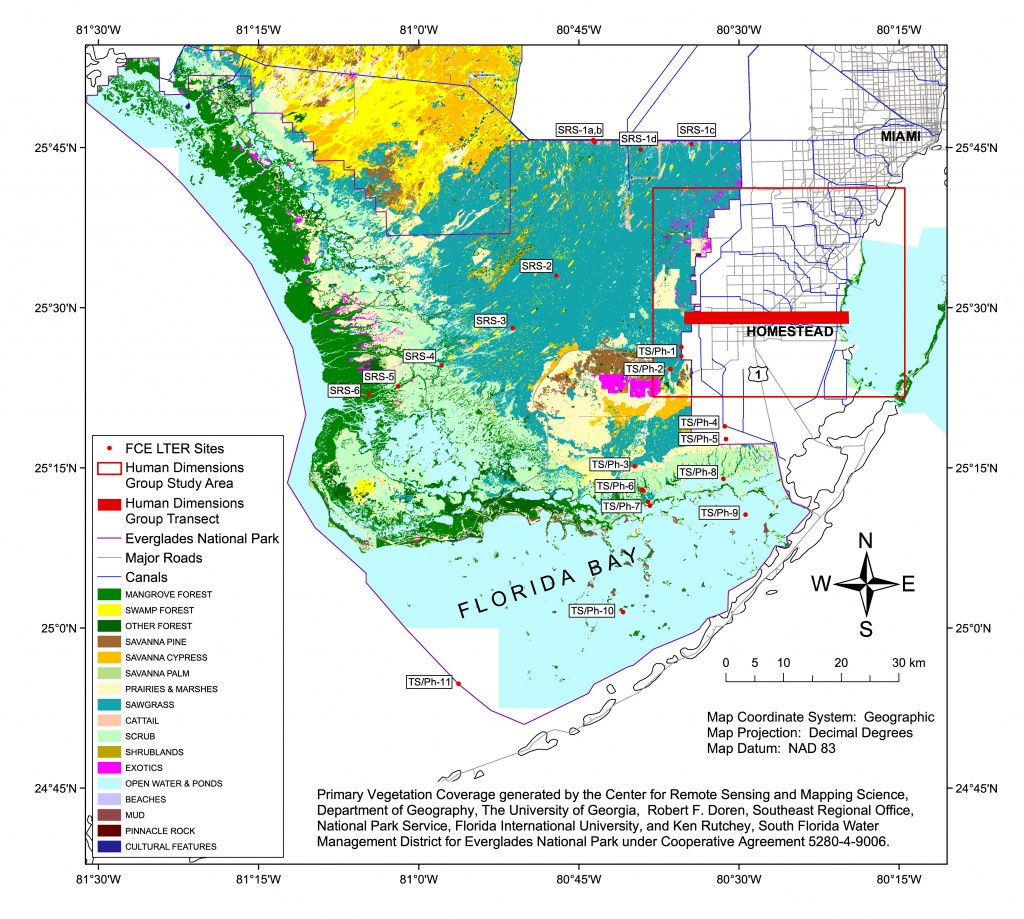 Florida Coastal Everglades Lter - Gis Data And Maps - Map Of Florida Showing The Everglades