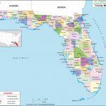 Florida County Map, Florida Counties, Counties In Florida   Fort Walton Beach Florida Map Google