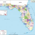 Florida County Map, Florida Counties, Counties In Florida   Map Of Florida West Coast Towns