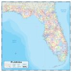 Florida County Wall Map   Maps   Laminated Florida Map