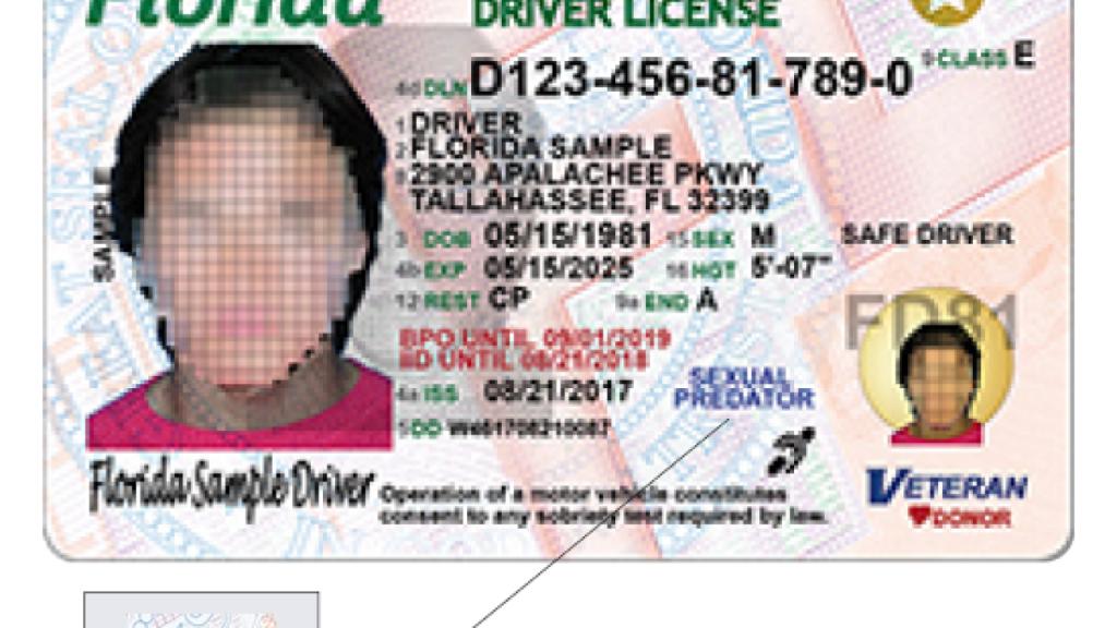 Florida Driver Licenses To Get New Design - Sexual Predator Map Florida
