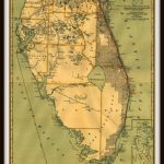 Florida East Coast Railroad Historic Map Print And Islands | Etsy   Map Of Florida East Coast