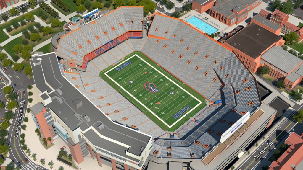 Florida Football Virtual Venue™Iomedia - University Of Florida Football Stadium Map