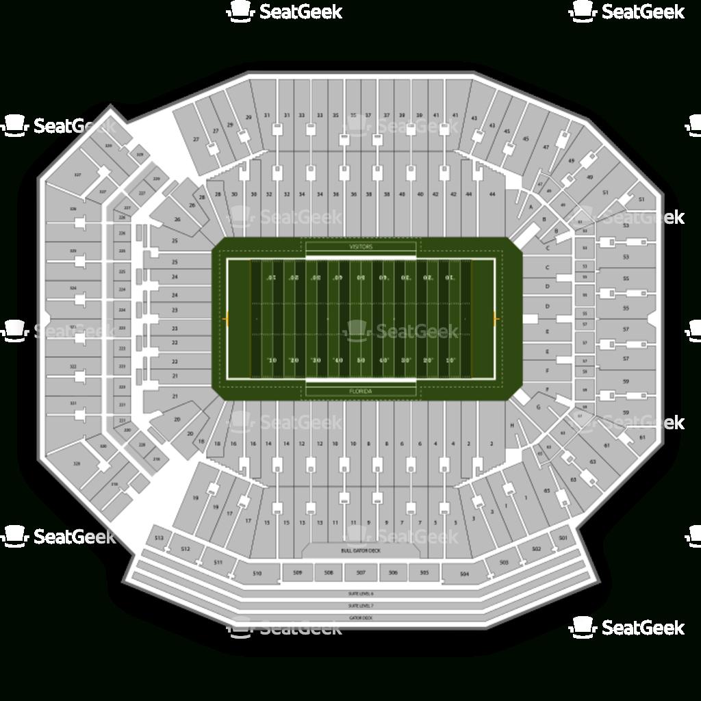 Florida Gators Football Seating Chart & Map | Seatgeek - University Of Florida Football Stadium Map