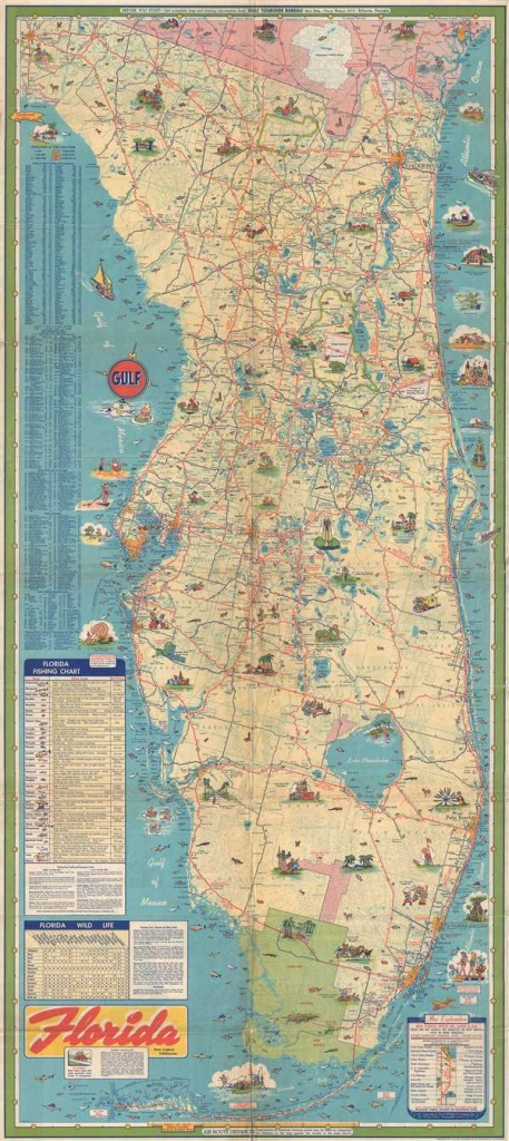 Florida.: Geographicus Rare Antique Maps - Detailed Road Map Of Florida