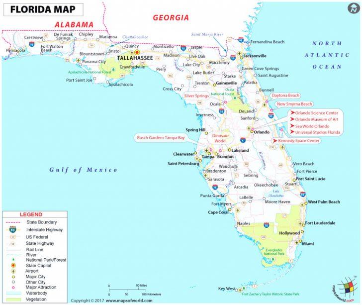 Best Beaches Gulf Coast Florida Map