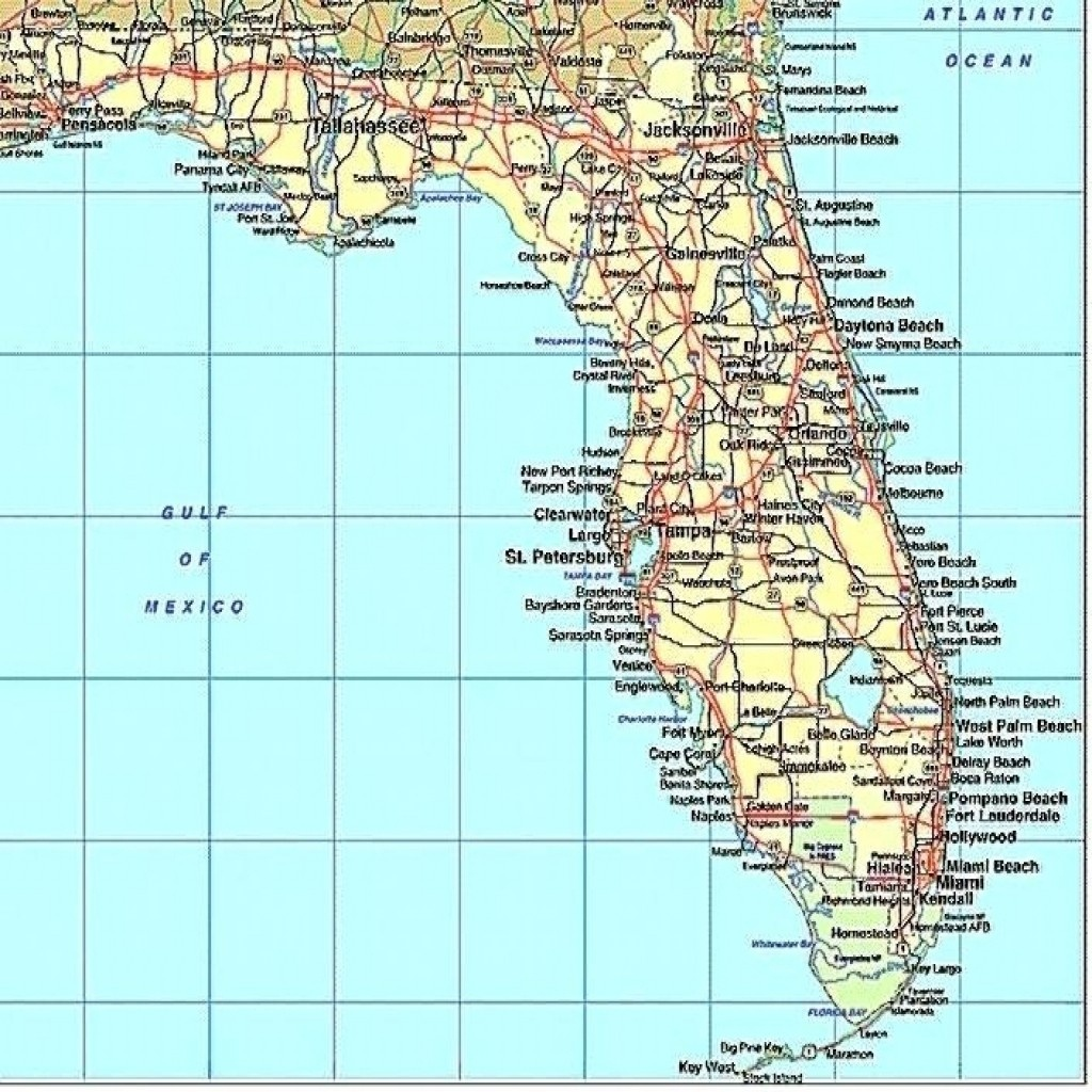Florida Gulf Coast Beaches Map Map Of Florida West Coast Cities Map - Map Of Florida Gulf Side