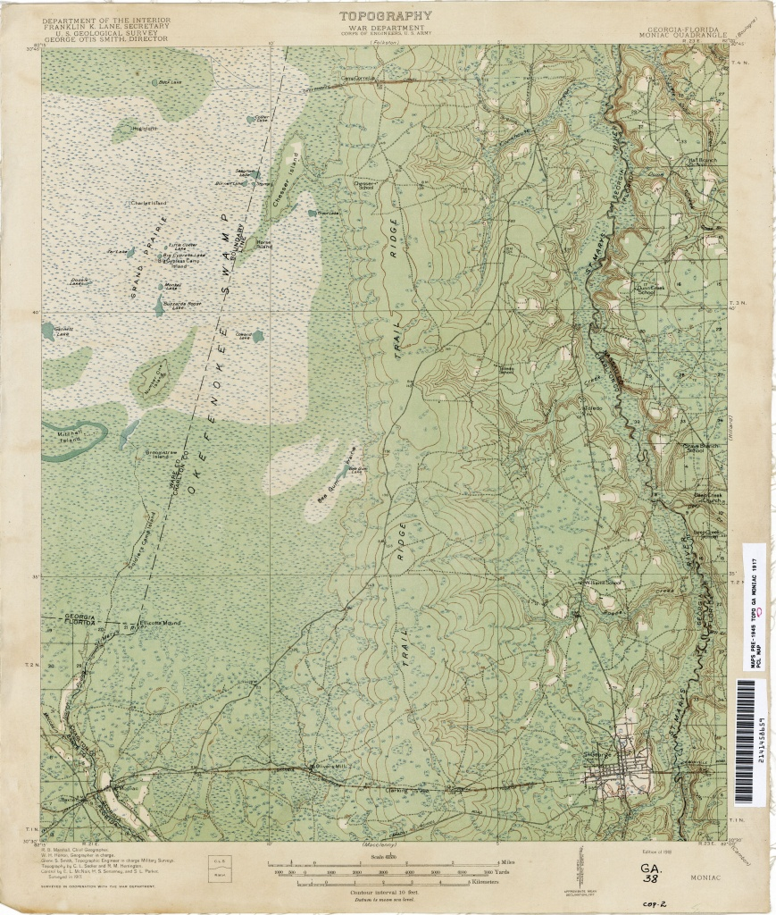 Florida Historical Topographic Maps - Perry-Castañeda Map Collection - Macclenny Florida Map