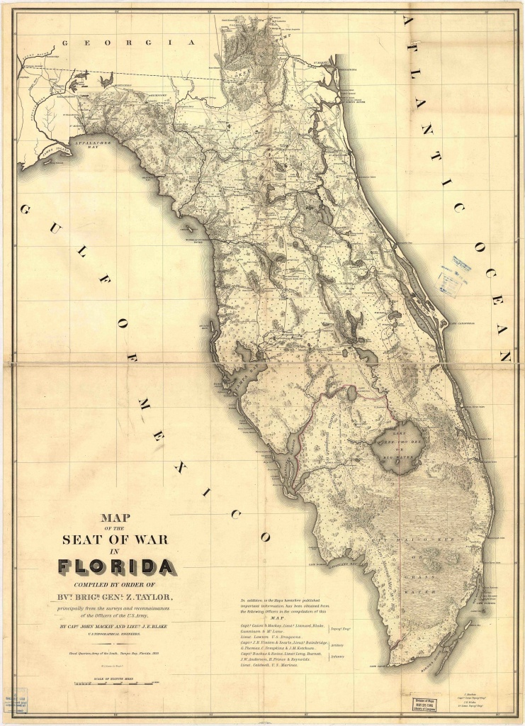 Florida Historical Vintage State Map | Vintage Press Co. | Seminole - Framed Map Of Florida