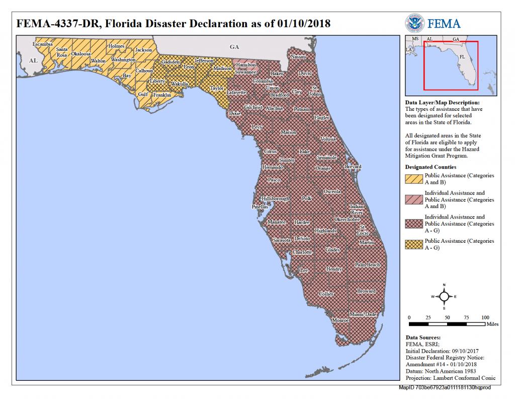 Florida Hurricane Irma (Dr-4337) | Fema.gov - Florida Disaster Map