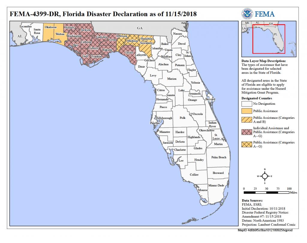 Florida Hurricane Michael (Dr-4399) | Fema.gov - Florida Disaster Map