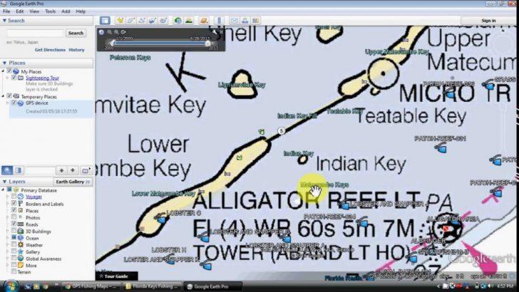 Florida Keys Fishing Map