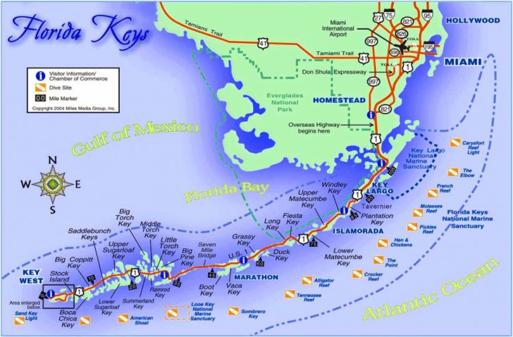 Florida Keys Map With Mile Markers