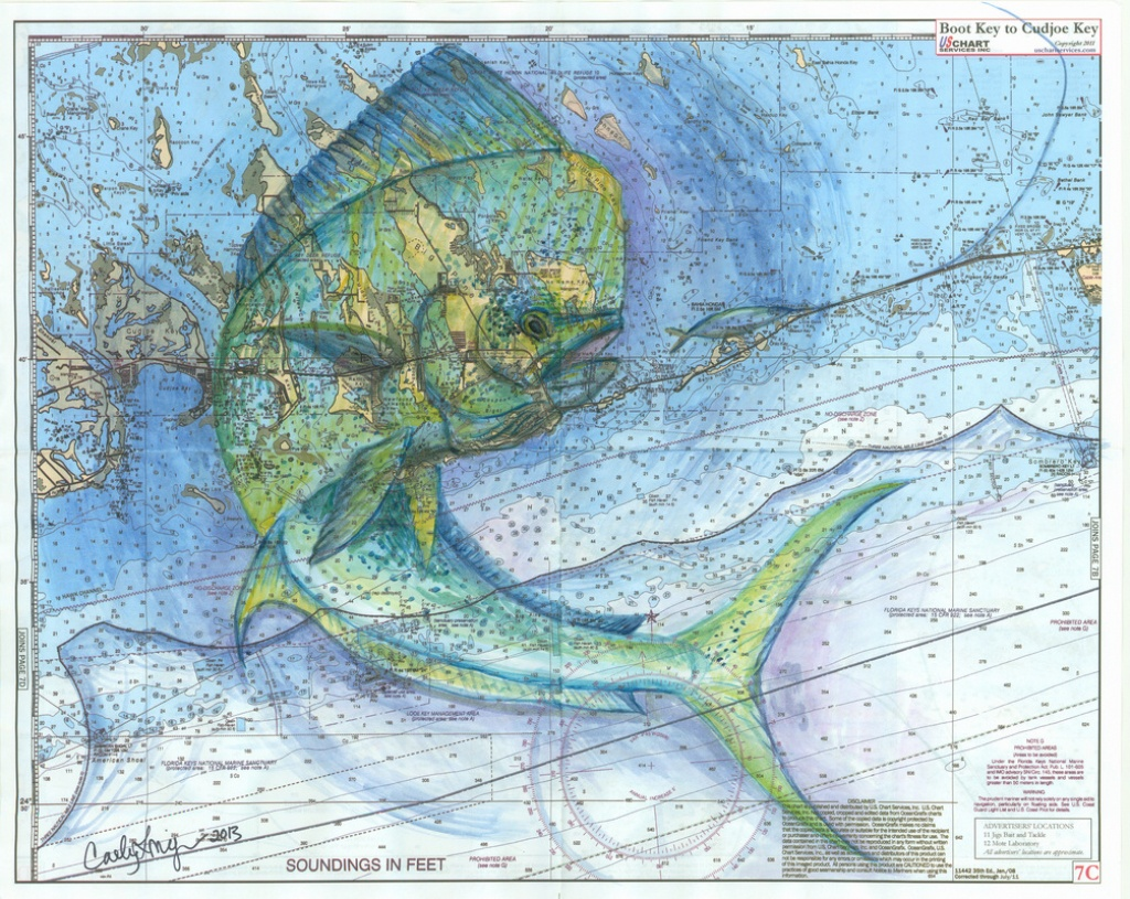 Florida Keys Mahi - Florida Keys Nautical Map