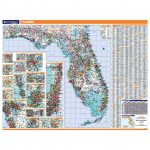 Florida Laminated State Wall Map   Laminated Florida Map