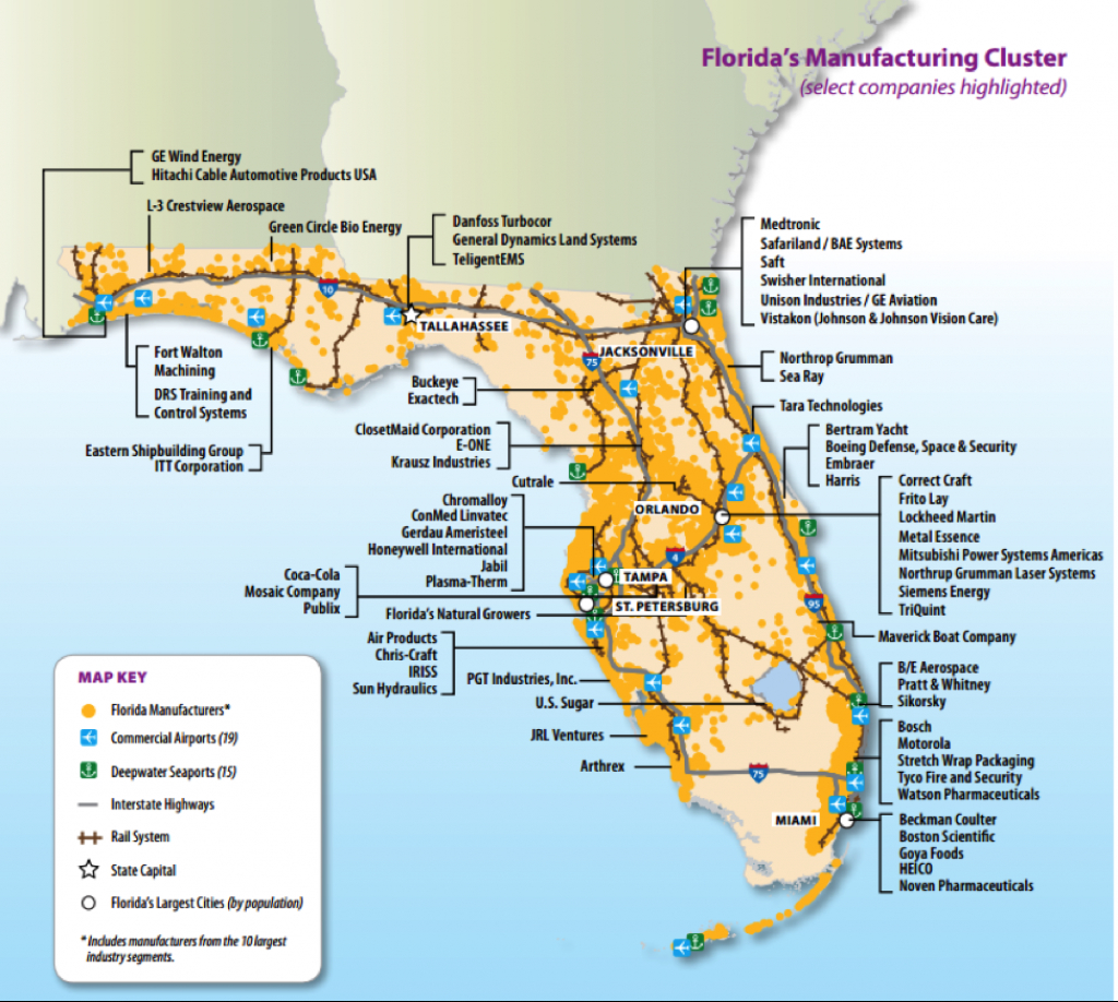 Florida Manufacts | Floridamakes - Florida Power Companies Map