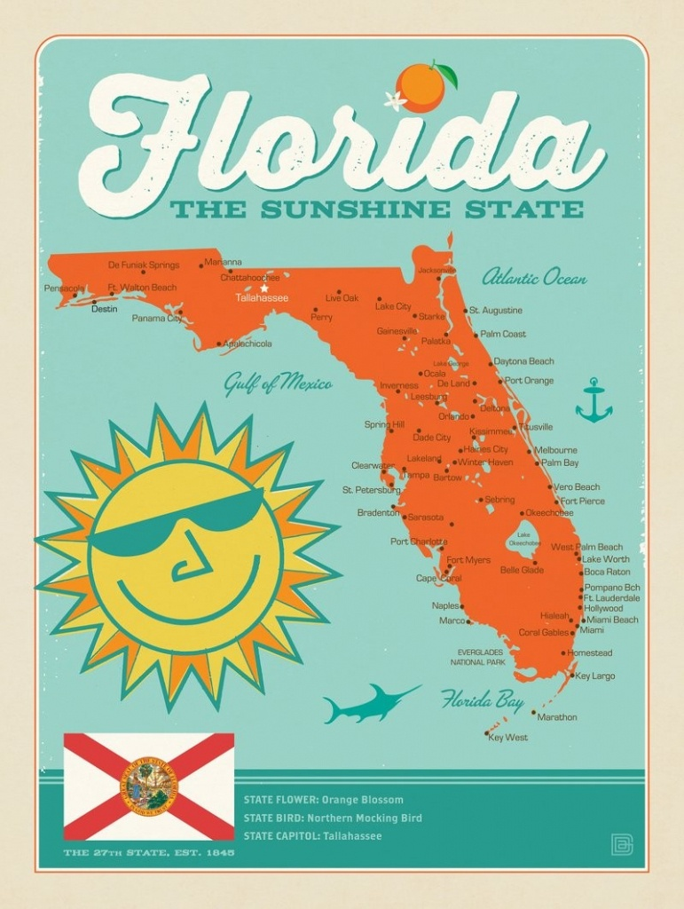 Florida Map | Anderson Design Group - Florida Map Poster