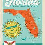 Florida Map   Anderson Design Group - Vintage Florida Map Poster