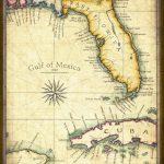 Florida Map Art 1820 11 X 14 Prints From Hand | Etsy - Florida Keys Map Art