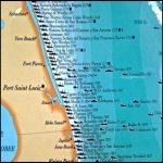 Florida Map East Coast Cities   Map Of Florida East Coast