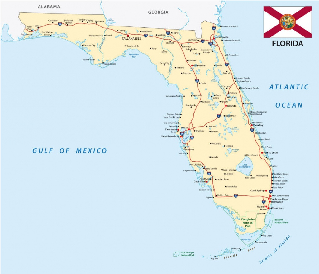 Florida Map - Florida Map With Port St Lucie