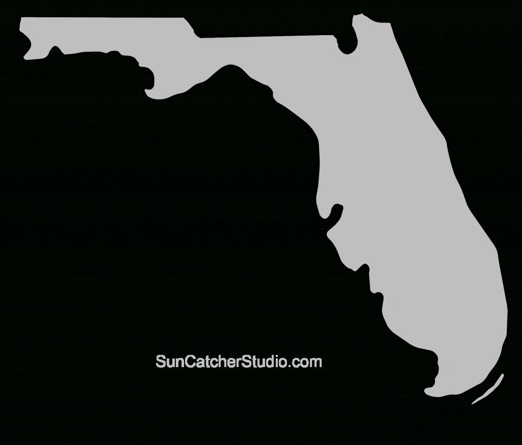 Florida – Map Outline, Printable State, Shape, Stencil, Pattern - Florida Map Outline Printable