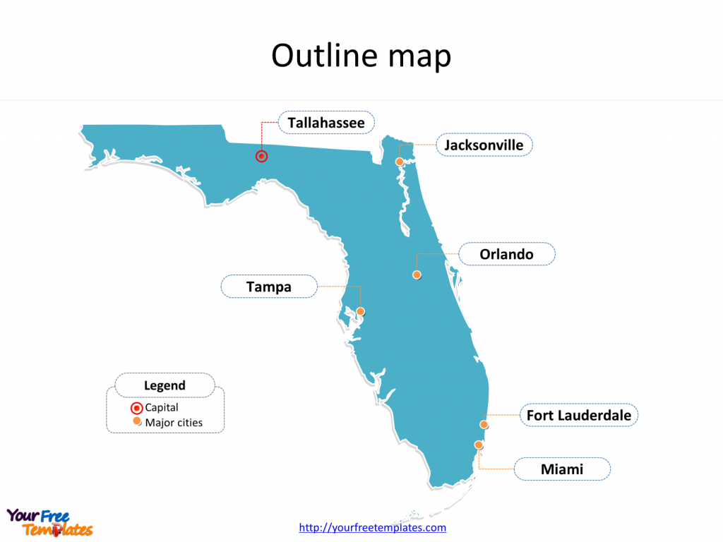 Florida Map Powerpoint Templates - Free Powerpoint Templates - Free Map Of Florida Cities