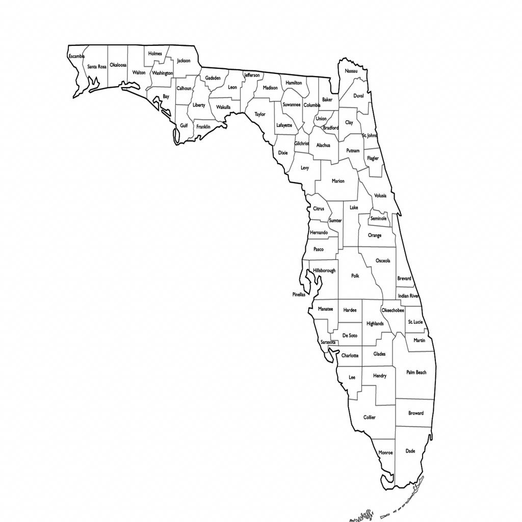 Florida Map With Counties   Sitedesignco - Florida County Map Printable