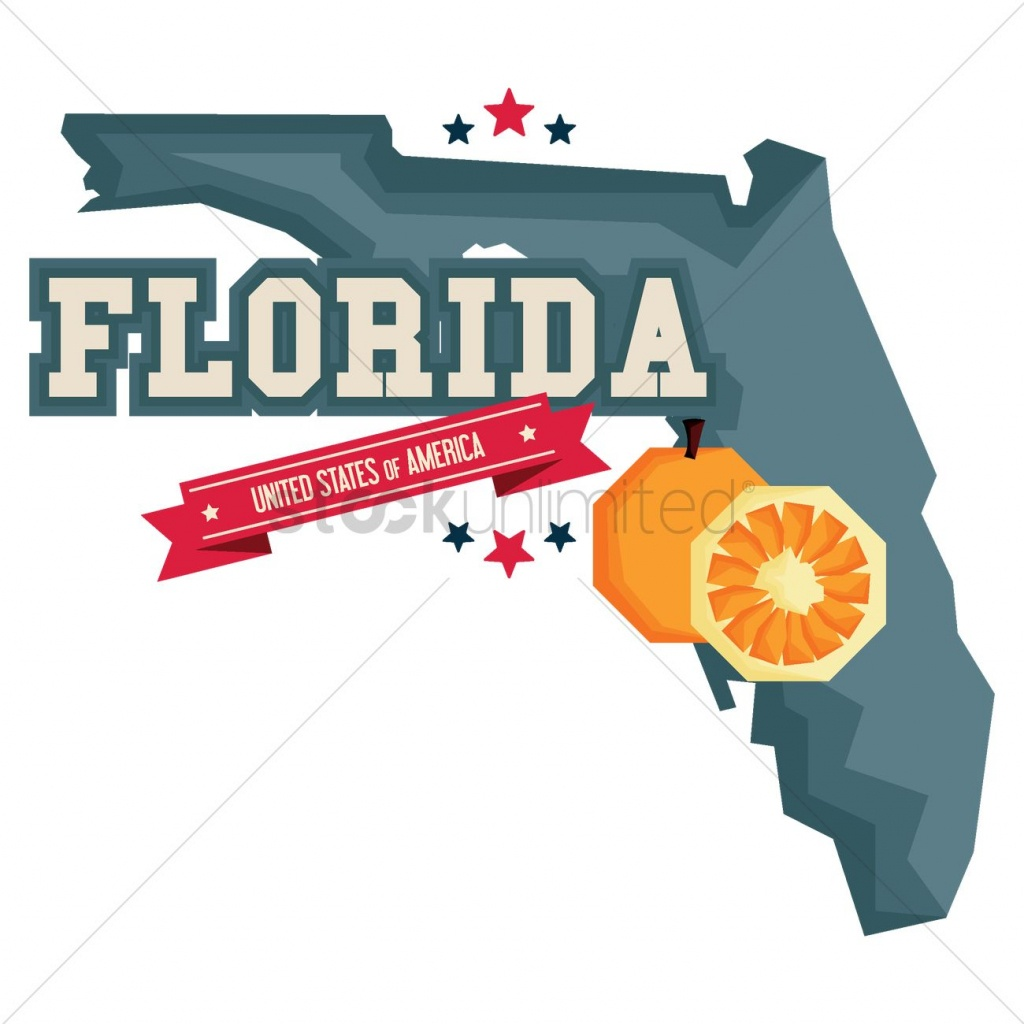 Florida Map With Orange Vector Image - 1541167   Stockunlimited - Orange Florida Map