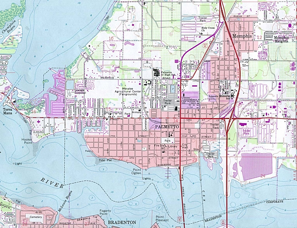 Florida Maps - Perry-Castañeda Map Collection - Ut Library Online - Palmetto Florida Map