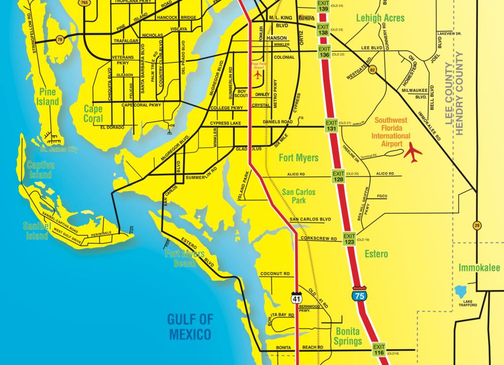 Florida Maps - Southwest Florida Travel - Bonita Beach Florida Map