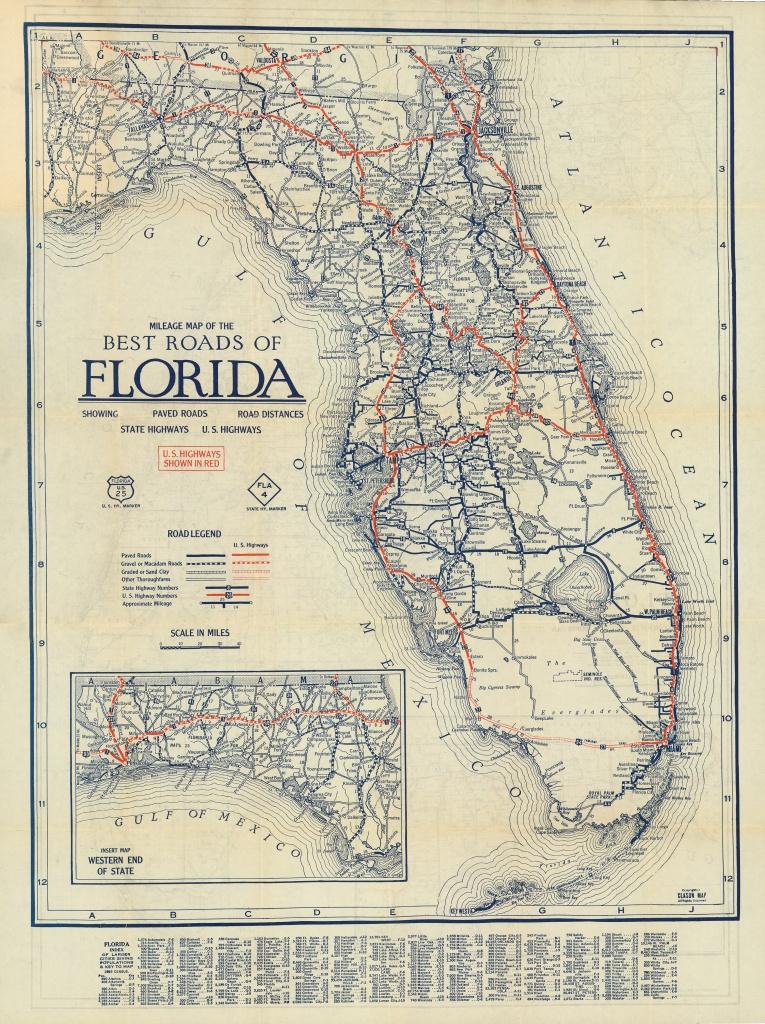 Florida Memory - Clason's Guide Map Of Florida, C. 1927 - Labelle Florida Map