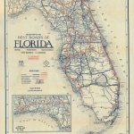Florida Memory   Clason's Guide Map Of Florida, C. 1927   Seabreeze Florida Map