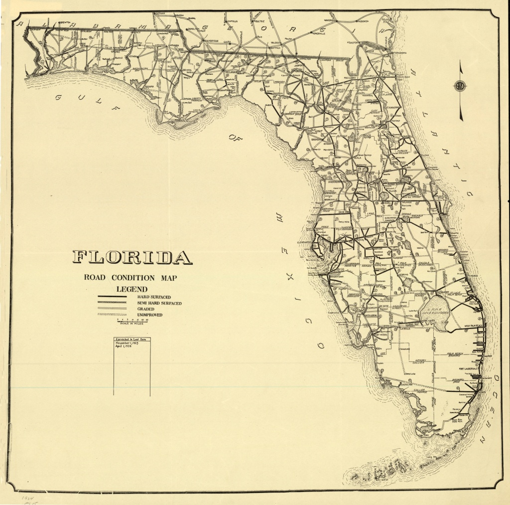 Florida Memory - Florida Road Condition Map, 1924 - Carrabelle Florida Map