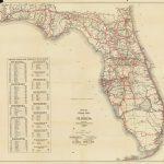 Florida Memory   Official Road Map Of Florida, 1930   Lake Alfred Florida Map