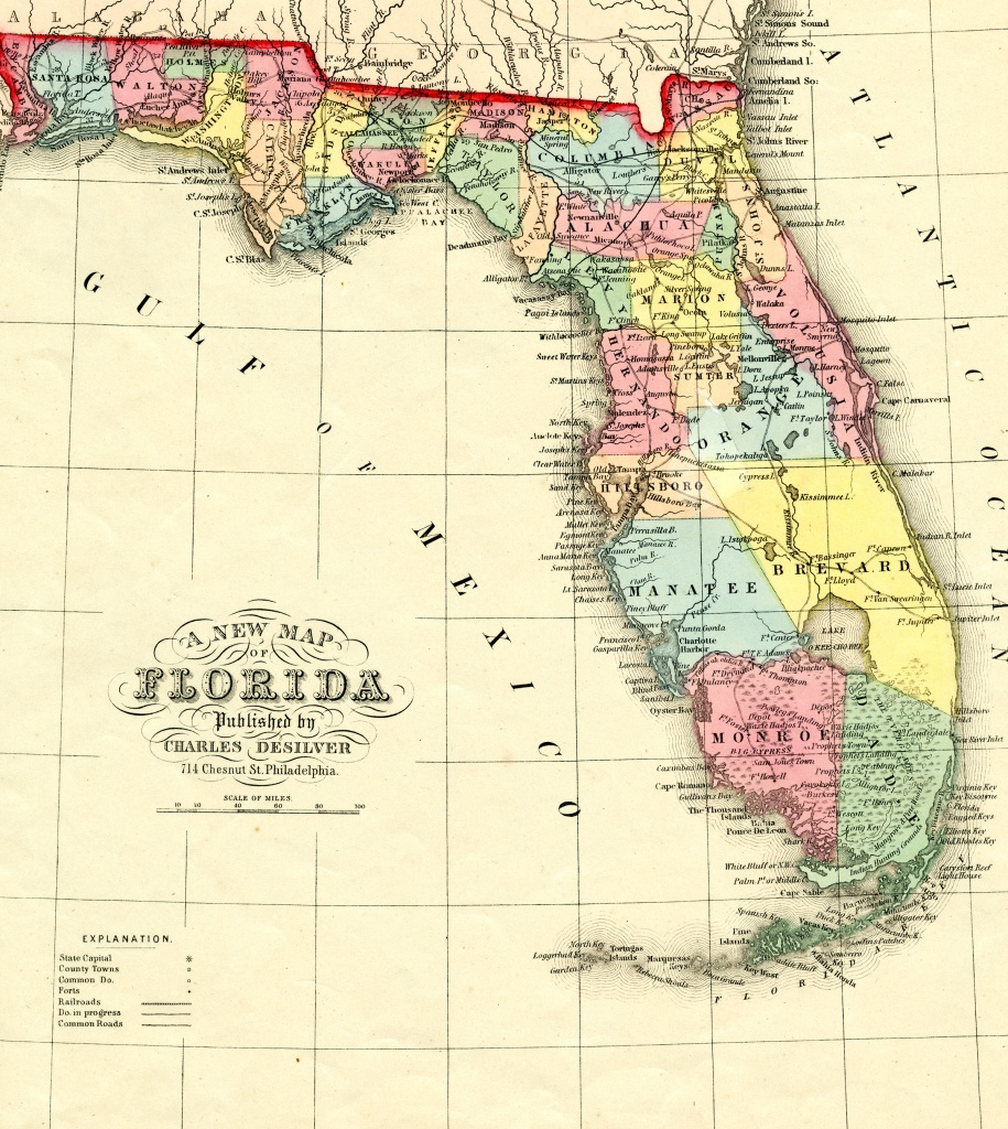 Florida Memory - Teacher Resources - Seminole Origins And Migration - Seminole Florida Map